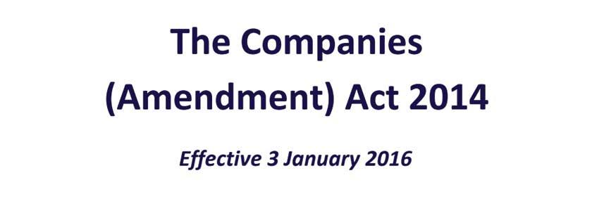 The Companies (Amendment) Act 2014