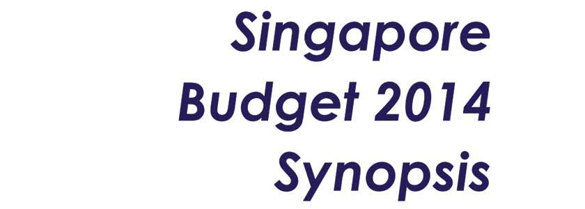 Singapore Budget 2014 Synopsis