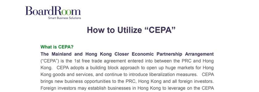 "How to utilise ""CEPA"""