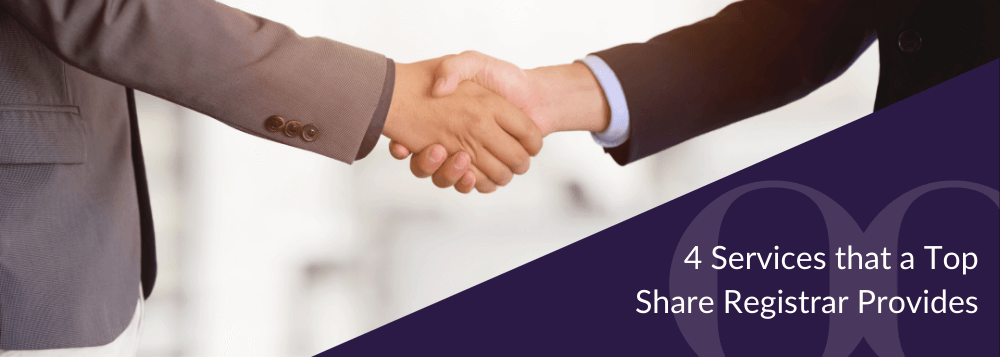 4 Services that a Top Share Registrar Providers