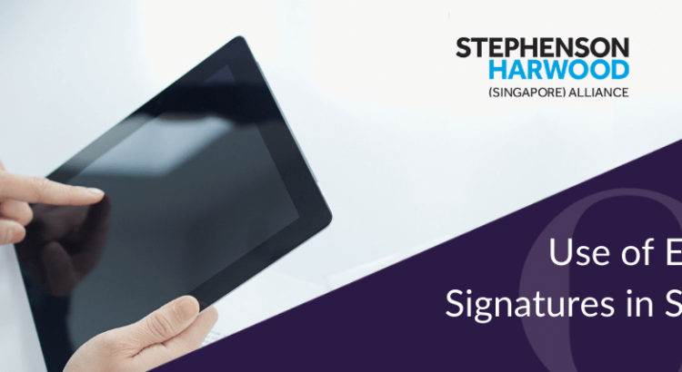 Use of electronic signatures in Singapore