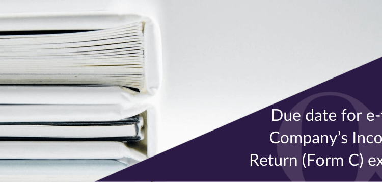 Due date for e-filing of Company's Income Tax Return (Form C) extended to 30 August 2016 for companies whose financial year ends on 31 December 2015