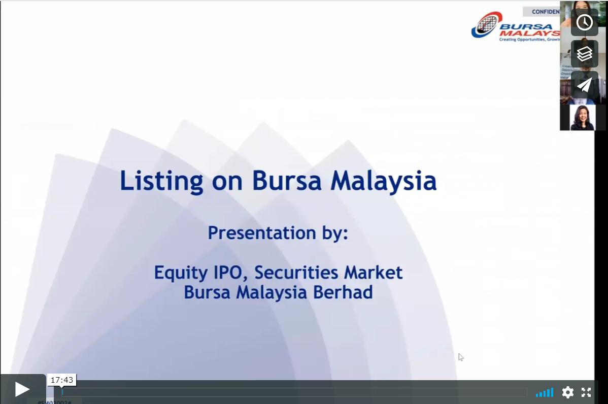 Listing on Bursa Malaysia